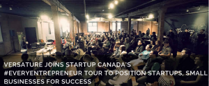 Audience attending an #EveryEntrepreneur workshop brought to you by Versature and Startup Canada